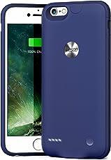 iPhone 6 / 6s Akku Hülle, Wesoo 2500 mAh Ultradünnes iPhone 6 / 6s (4,7 Zoll) Battery Case, Blau
