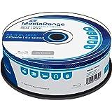 MediaRange - BLU-Ray Disc BD-r DL, 50 GB / 270 min, 6X, Impreso, 25 Piezas en Caja