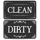 Dishwasher Magnet Clean Dirty Sign - Strongest Magnet Double Sided Flip - With Bonus Metal Magnetic Plate - Universal Kitchen