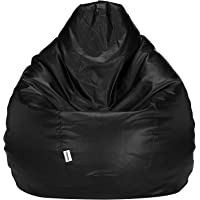 Amazon Brand - Solimo XXL Bean Bag Filled With Beans (Black)