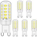 G9 LED Lumière Ampoules 5W Équivalent à 28W 33W 40W Halogène Ampoules, Blanc froid 6000K, G9 Prise LED Lampe, sans scintillem