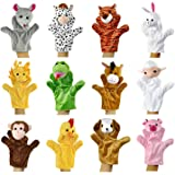 Alpacasso Ensemble de marionnettes à Main en Peluche d'animaux Mignons, Jouets en Peluche de poupées en Peluche en…