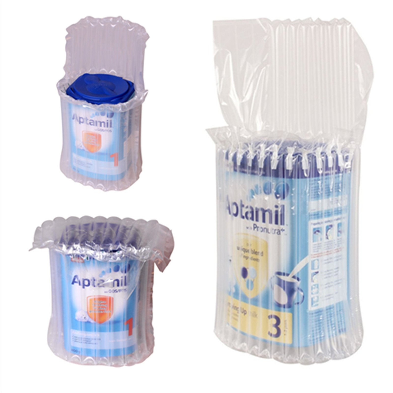 Bubble Wrap Air Cushion Bag Baby Milk Powder Shipping Protective Inflatable Packaging 10 Pillar