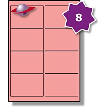 8 per page sheet 50 sheets 400 sticky pink labels label planet