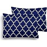 "Home Elite Designer Printed Premium 2 Piece Cotton Pillow Cover Set - 17"" x 27"", Multicolour"
