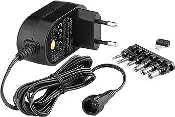 Goobay 59033 3-12V Universal-Netzteil mit max. 12W / 1000mA inkl. 6 Adapterstecker DC schwarz