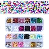 24 boîtes Star Paillettes Maquillage Glitter, Kalolary 3D flocons holographiques paillettes pour Visage, Corps, Ongles, Cheve