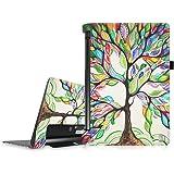 """FINTIE Étui pour Lenovo Yoga Tablet 3 10 (Pas pour Lenovo Yoga Tab 3 Plus/Pro) - Folio Premium Étui de Protection avec Veille/Réveil Automatique pour Lenovo Yoga Tablet 3 10.1"""" YT3-X50F, Love Tree"""