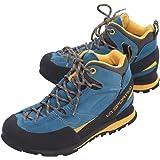 LA SPORTIVA Boulder X Mid Blue/Yellow, Stivali da Escursionismo Alti Unisex – Adulto