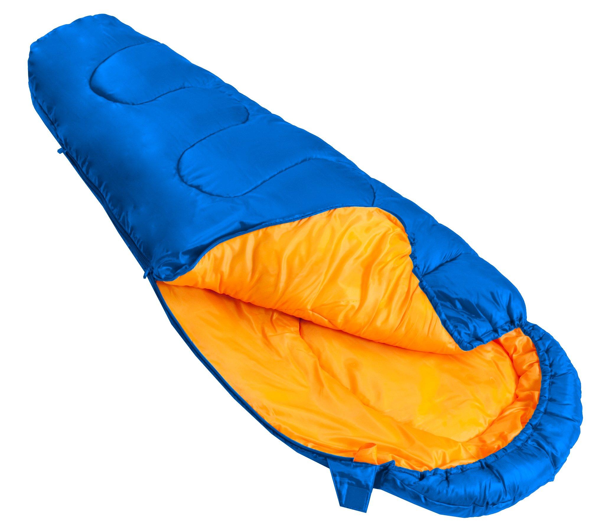 Vango Saturn Kids' Outdoor Sleeping Bag available in Atlantic - Size 170 x 70 cm 2