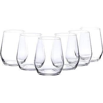 Trinkglas Twister Becher flieder Set Trinkbecher Glas Universalbecher Wasserglas