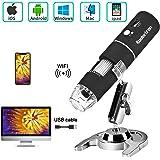 Koolertron Microscope Numérique USB Microscope WiFi sans Fil Portable Caméra de Endoscope à Grossissement 1000x HD 1080P…
