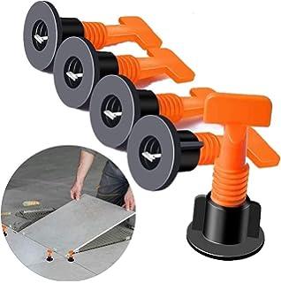 50 Stk Fliesen Leveler Fliesen Nivelliersystem Kits 1mm bis 6mm Fliesen Abstandshalter Wiederverwendbar Fliesen Leveling System Verstellbar f/ür die Fliesenverlegung von W/änden B/öden