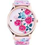 Teal By Chumbak Rose Garden Wrist Watch with Printed Strap