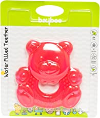 BAYBEE Baby's Silicone BPA Free Teether Massage (Red, BBHSIE040_T)
