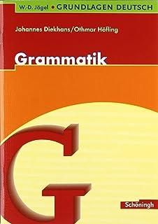 W D Jägel Grundlagen Deutsch Grammatik Der Deutschen Sprache