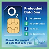 O2 Data Sim Card Preloaded with 50GB of 4G/5G Data. Includes 25GB to Roam for free in 47 countries. No Contracts, No Commitments, No Credit Checks, No Tie-ins. Valid for 1 Month