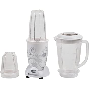 Wonderchef Nutri-Blend 400-Watt Mixer Grinder with 3 Jars (White)