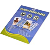 Fis Glossy Photo Paper 210x207mm A4 Size 135gsm 50 Sheets
