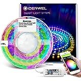 GIDERWEL 5m Smart DreamColor Led-strips met WiFi Led Controller, App/Voice Besturing Adresbare RGB ledstrip Kleur Verandering