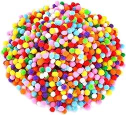 Unobite Multicolor Pom Pom Balls 0.5cm (2000 Piece)