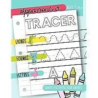 Apprenons à tracer : Lignes Formes Lettres : Cahier d'activités pour enfants : Âges 3 et +: Un cahier de graphisme pour jeunes enfants débutants pour ... et les tout-petits (âgés de 3 à 5 ans)