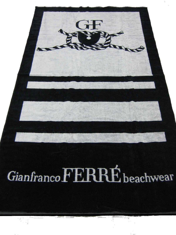 Telo mare Gianfranco Ferr� in spugna da spiaggia o bagno GRANDE - Asciugamano (100 x 180 cm) - IDEA