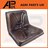 APUK New Black Universal Seat Dumper Mower Forklift Tractor Ride On Compact High Back