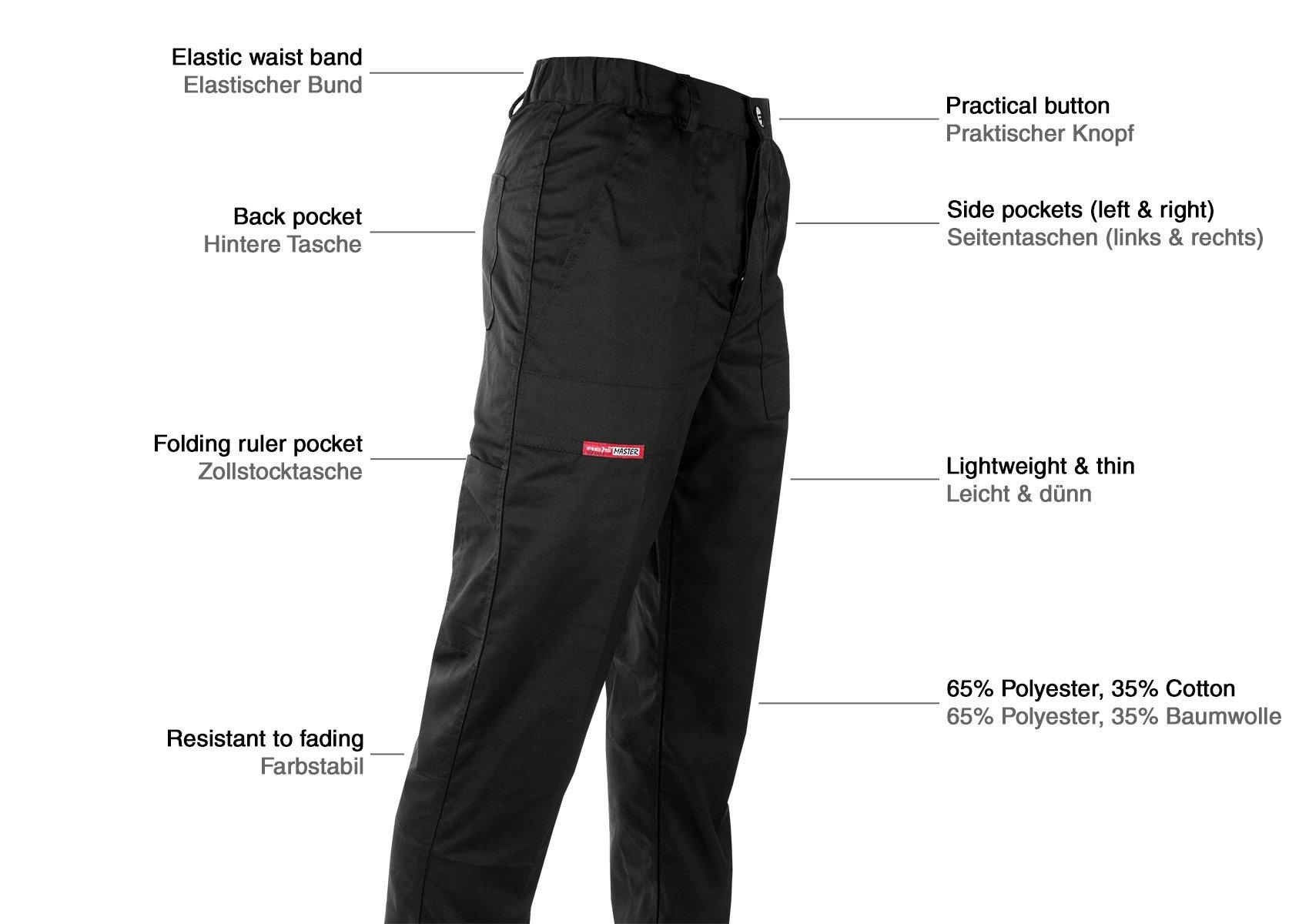 Bricolaje Y Herramientas Pantalones Construccion Reis Pantalones De Seguridad Negros Para Hombre Elasticos Multibolsillos Pantalon De Trabajo