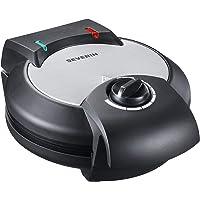 Severin WA 2103  macchina per waffel  in acciaio inox satinato  luci indicanti lo stato di cottura  colore nero  Acciaio INOX  nero  1   confezione 1200watts 220volts