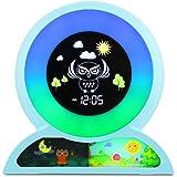 MOREASE Réveil Enfant, Numérique Réveil avce 5 Couleurs et 5 Options Musical, Affichage LCD Heure Affichage de Lumineux Révei