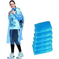 Disposable Rain Poncho, Aival Emergency Waterproof Poncho Raincoat, Hooded Poncho Mackintosh for Camping Hiking Travel…