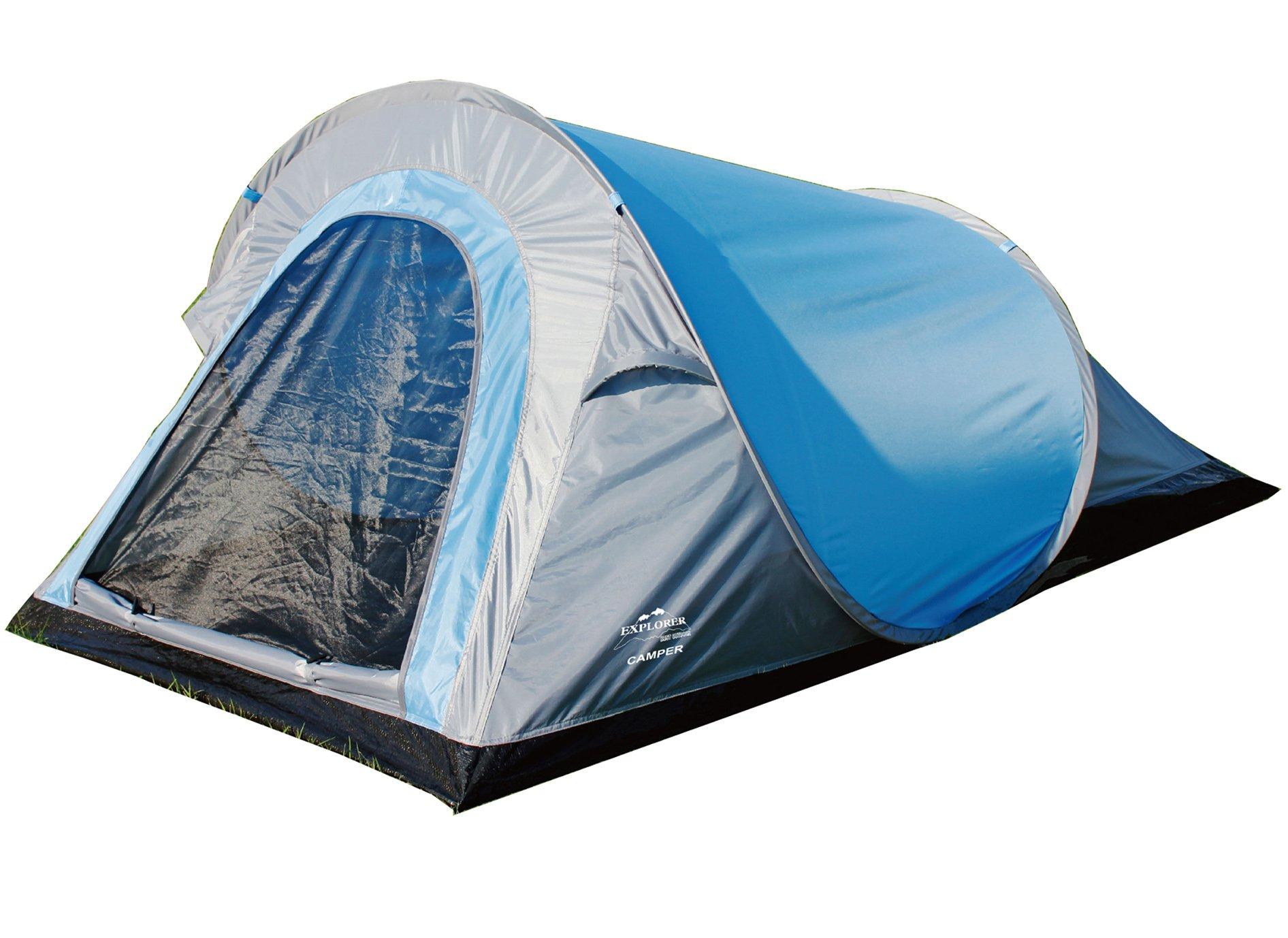EXPLORER Zelt Pop-up-Zelt Camper **in Sekunden aufgebaut!** 220x120x90/60cm 2 Pe