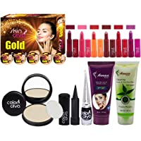 Adbeni Super Combo Makeup Set 1PC Facial Kit, 6Pc Lipstick, 1Pc CC Cream, 1Pc Compact Powder, 1Pc Face Wash, 1Pc…