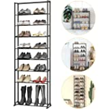 10-Tier Shoe Rack Sturdy Shoe Organizer Stackable Shoe Rack Storage 30 Pairs for Closet Entryway Dormitory, Easy to Assemble,