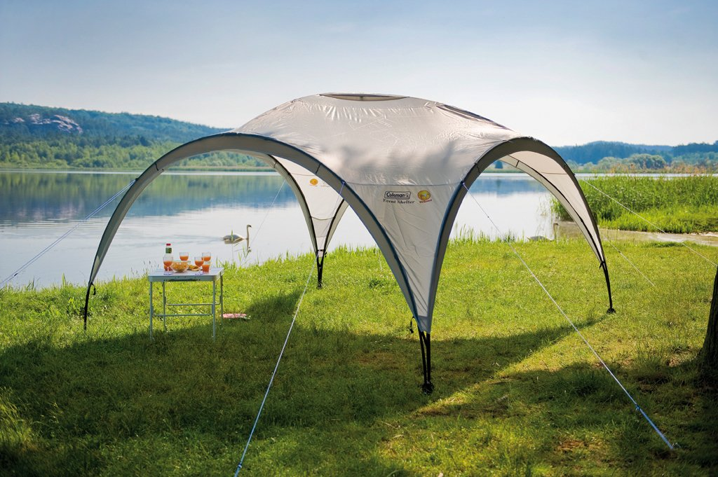 Coleman Gazebo Event Shelter for Festivals, Garden and Camping, sturdy steel poles construction, large Event tent, portable sun shelter with sun protection SPF 50+ 3