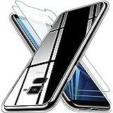 KEEPXYZ Funda para Samsung Galaxy A8 2018 Silicona Transparente TPU Antigolpes + 2 Pcs Protector de Pantalla para Samsung Gal
