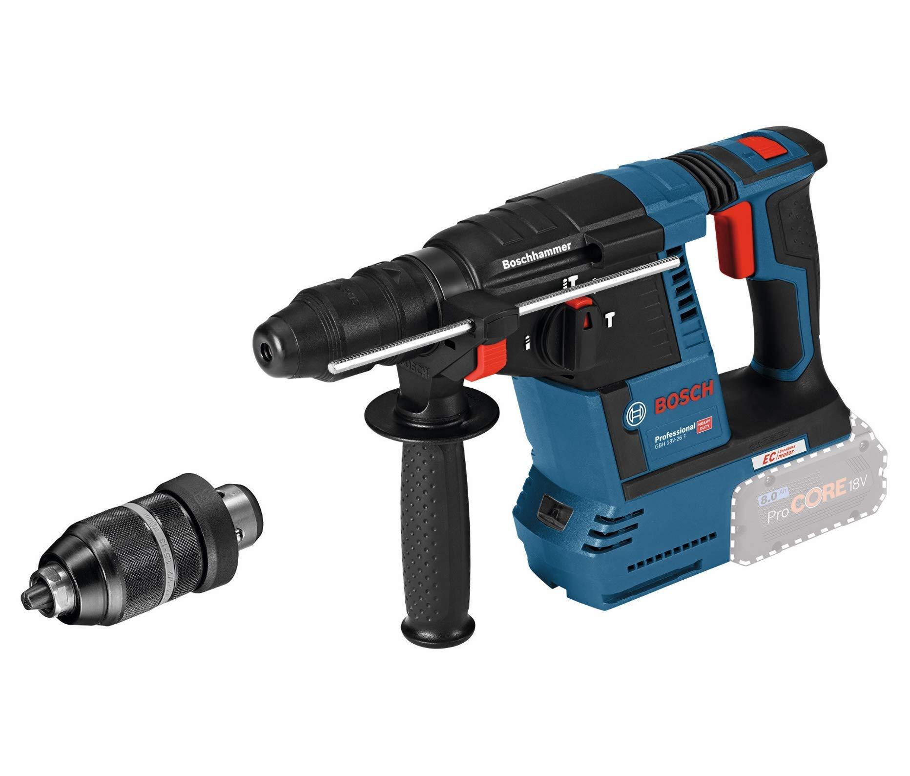 Bosch Professional GBH 18V-26 Akku Bohrhammer mit SDS Plus Schnellwechselbohrfutter