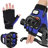 Handschuhe Herren Fingerlose Halbfinger Fahrradhandschuhe Hard Knuckle Laufhandschuhe Fit für Radfahren Airsoft Paintball Wan