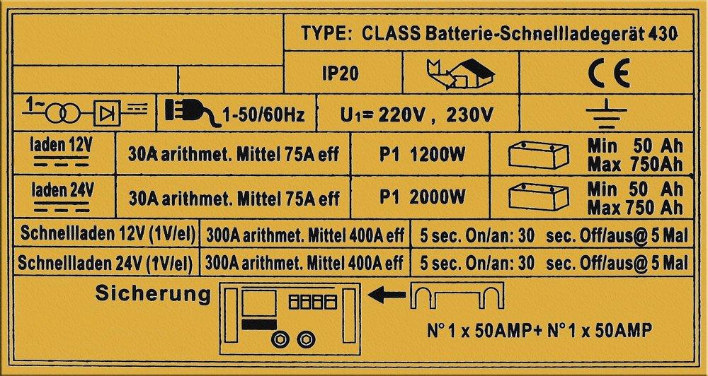 71F1ouF741L - WilTec Boost 430 cargador arrancador carga bateria arranque 12V 24V Motocicleta Camión