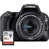 Canon EOS 200D Digitale Spiegelreflexkamera (24,2 Megapixel, 7,7 cm (3 Zoll) Display, APS-C CMOS-Sensor, WLAN mit NFC, Full-HD, DIGIC 7) inkl 18-55mm 1:4,0-5,6 is STM Objektiv, schwarz