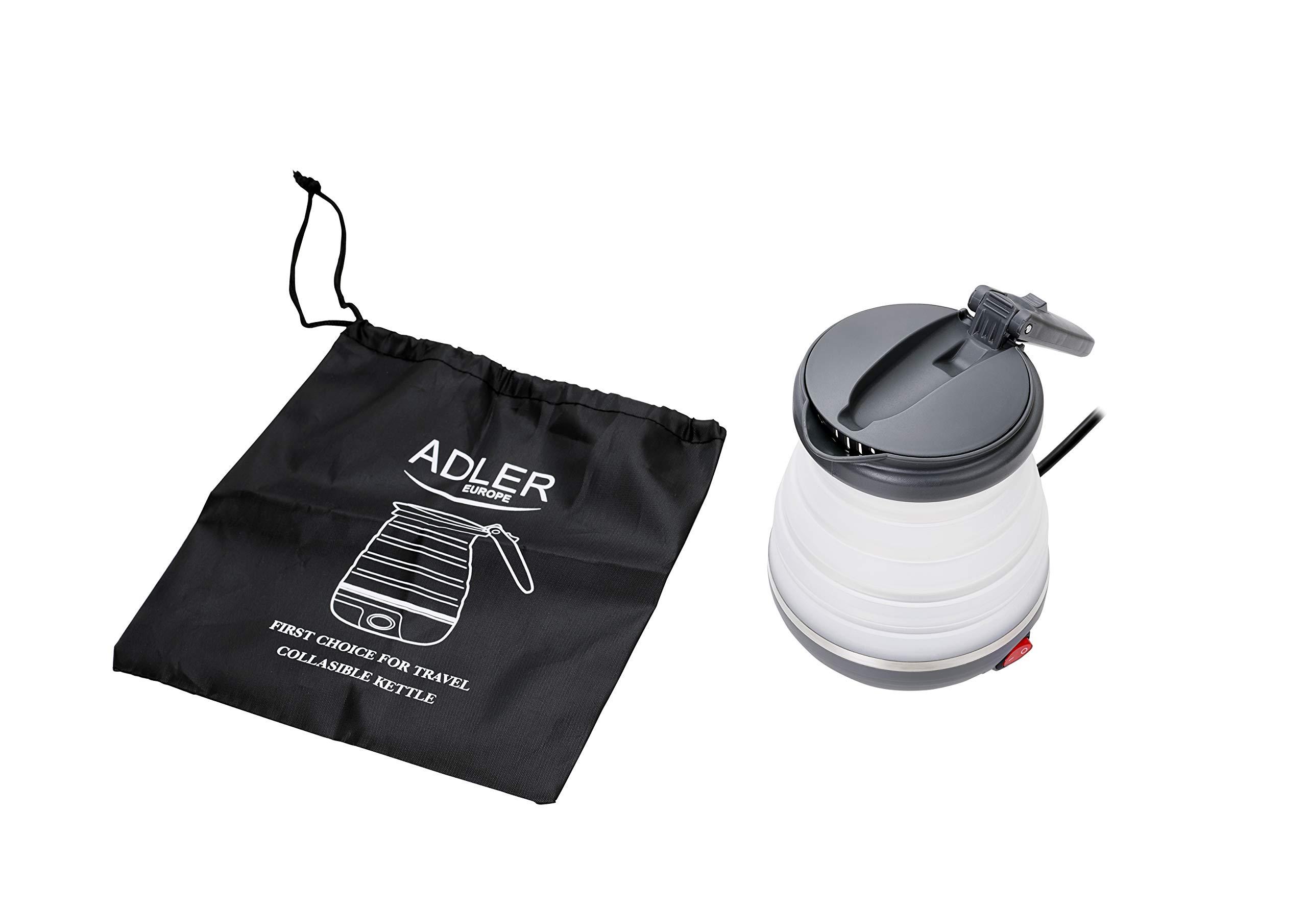 Adler-AD-1279-Elektrischer-Reisewasserkocher-aus-Silikon-06L-750-W-Leistung-Faltbar