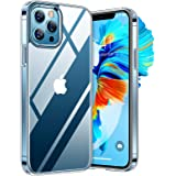 TORRAS Military Diamond Clear iPhone 12 Pro Max Case, [Never Yellowing] 5X Shockproof Military Protection, Slim Thin Hard Bac