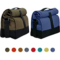 Marine Pearl Pack of 2 Thermal Lunch Tiffin Food Bag with Bottle Spoon Folk Holder