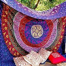 Tapiz para pared, diseño indio de mandala, algodón