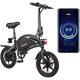 AmazeFan DYU Vikbar elcykel, smart mountainbike för vuxna, 240 W aluminiumlegering cykel avtagbar 36 V/10 Ah litiumjonbatteri