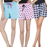 NITE FLITE Women Regular Shorts (Pack of 3)