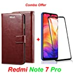 Goelectro Redmi Note 7 Pro / Note7 Pro Leather Dairy Flip Case Stand with Magnetic Closure & Card Holder Cover + 6D...