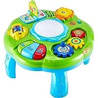 HERSITY Tavolino Multiattivita Bambini, Tavolo Centro Attivita Gioco Musicale con Luci e Suoni Giocattoli Educativi…