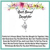 Onepurposegifts Step Daughter Gift, Bonus Daughter Gift, Step Daughter Necklace, Stepdaughter Gifts from Stepmom…